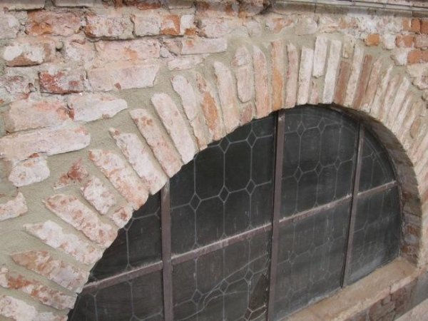 detail of the west chapel window