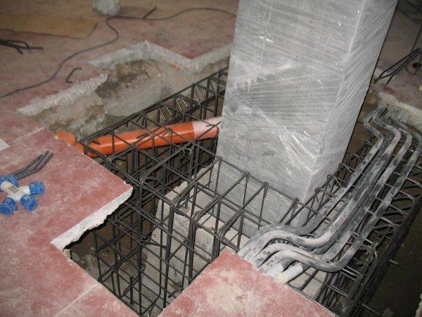 Armatura di rinforzo plinto pilastro interno