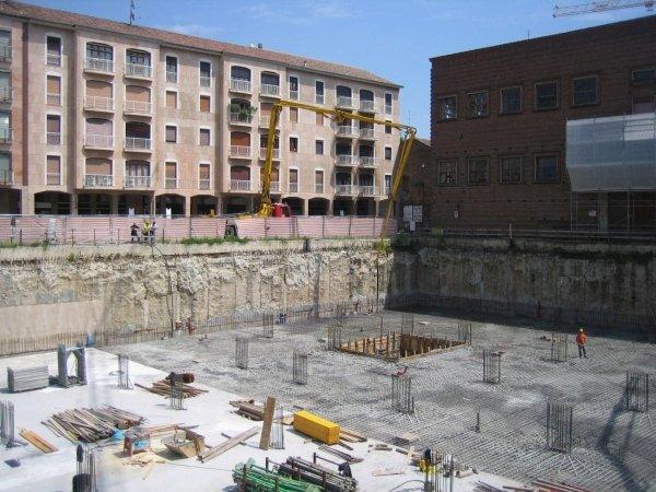 Completed foundation slab rebar