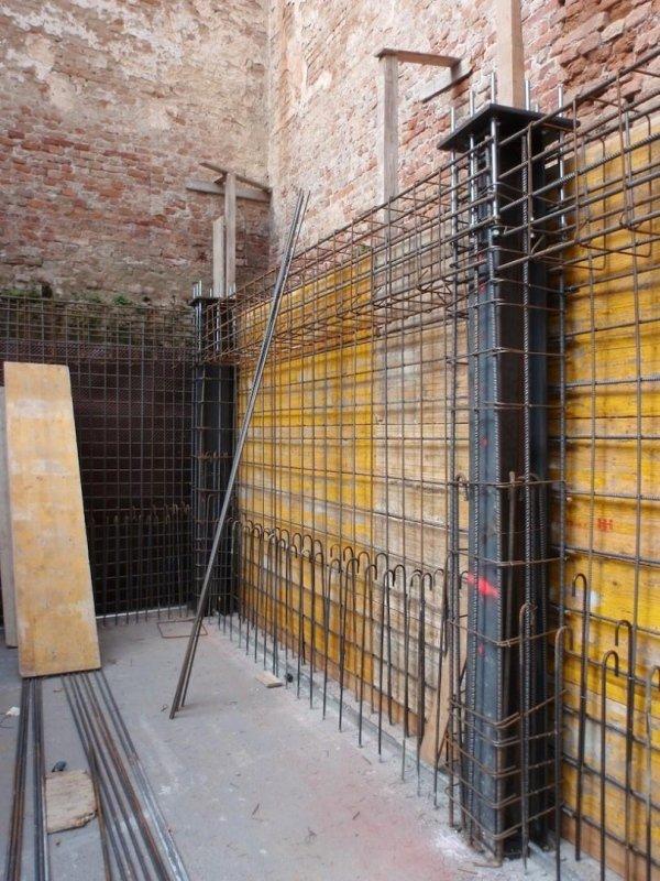 Basement reinforced concrete perimeter wall rebar - phase 1