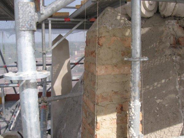 reconstruction of spire masonry