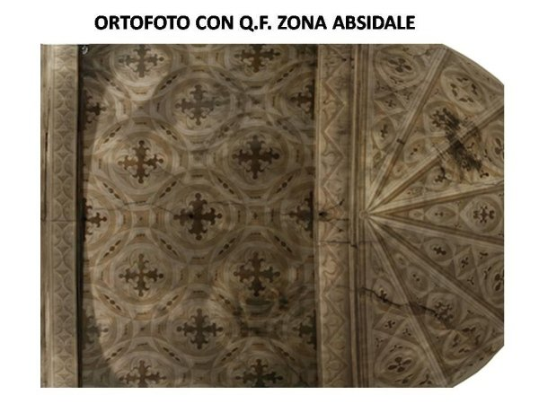 photographic survey: orthophoto with apse crack pattern