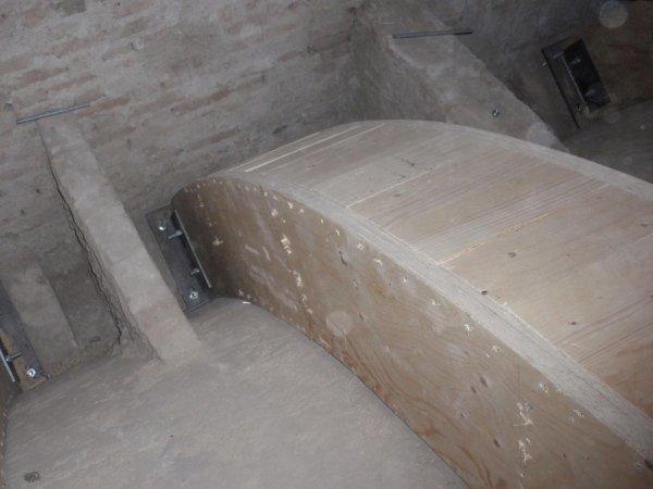 detail of box girder upper closure fasteners