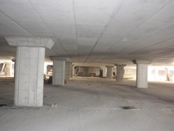 View of first floor level and pillars