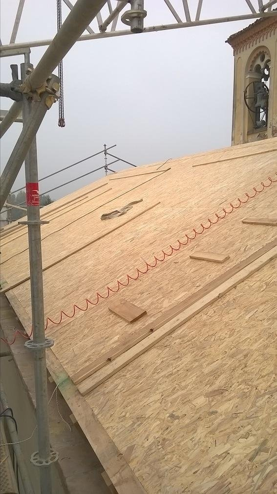 completed OSB panel installation