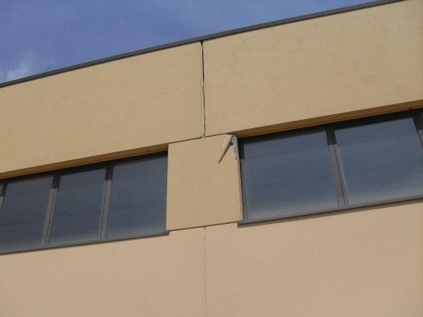 Lesione sulla facciata