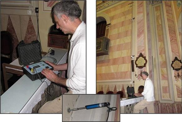 monitoraggio: esecuzione prova con martinetto piatto doppio