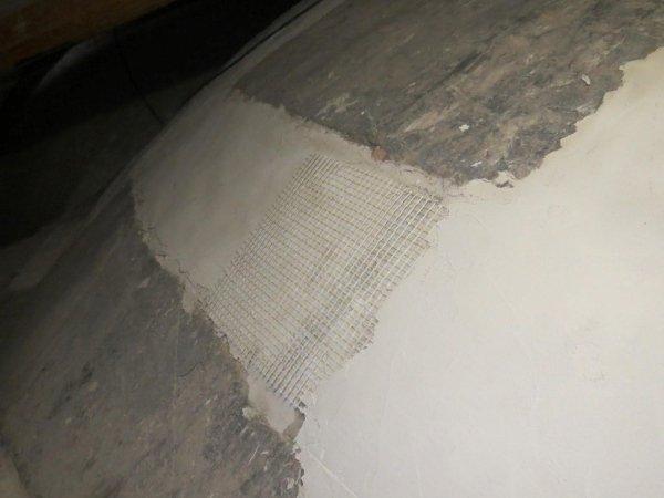 consolidamento cupola con rete in fibra di vetro