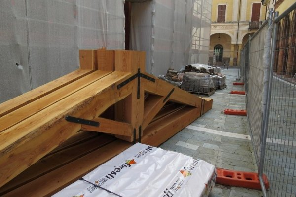 new wooden trusses