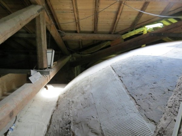 dome consolidation with glass fibre mesh