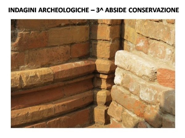 archaeological investigations in the apse area