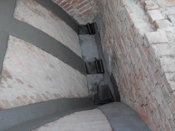 vault reinforcement with the PBO fibre FRCM system