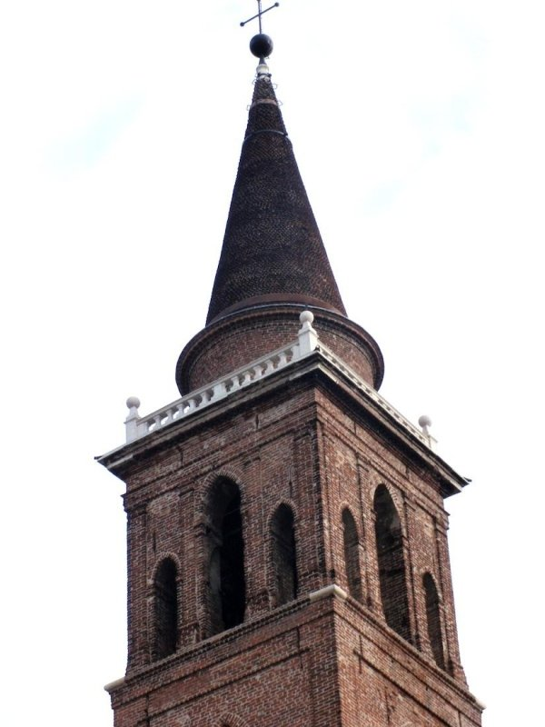 View of belfry and spire