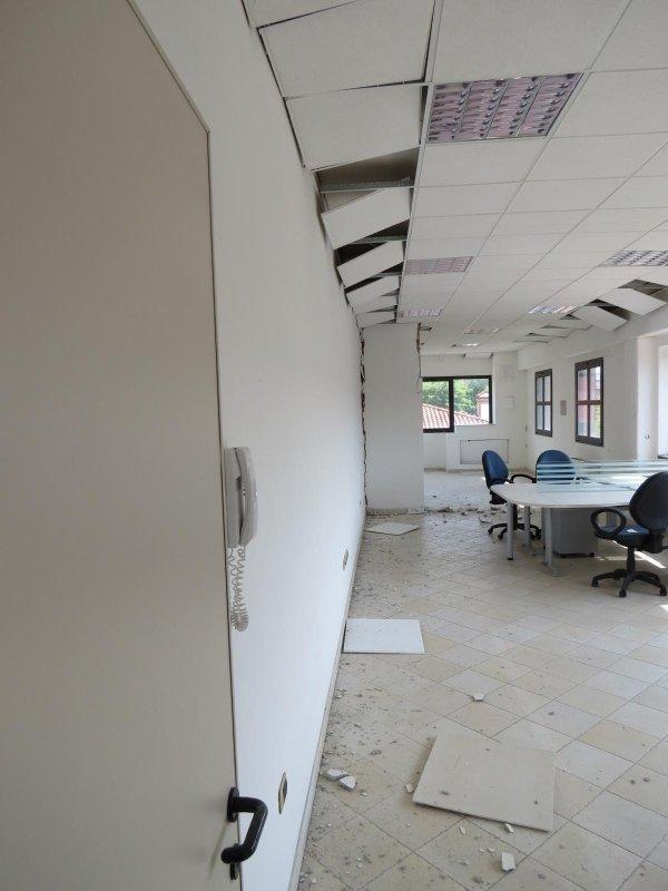 Vista lesioni negli uffici al piano primo