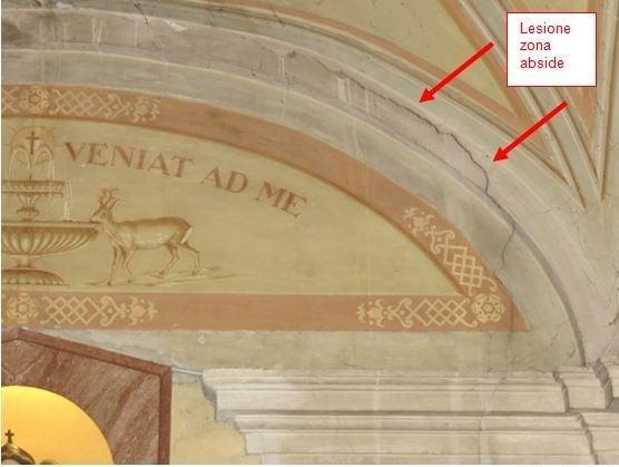 Lesione nella zona abside