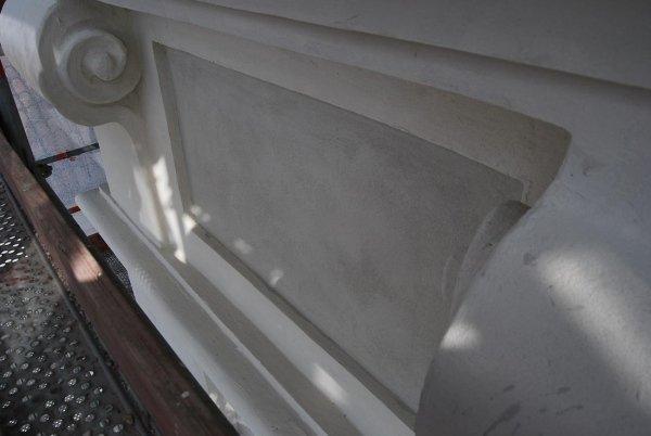 decoro in cemento ripristinato