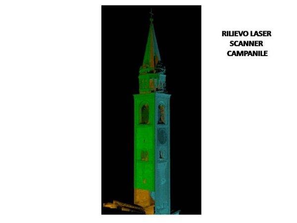 monitoraggio: rilievo con laser scanner del campanile