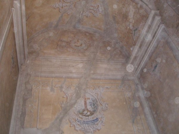 Internal lesion on the west chapel wall