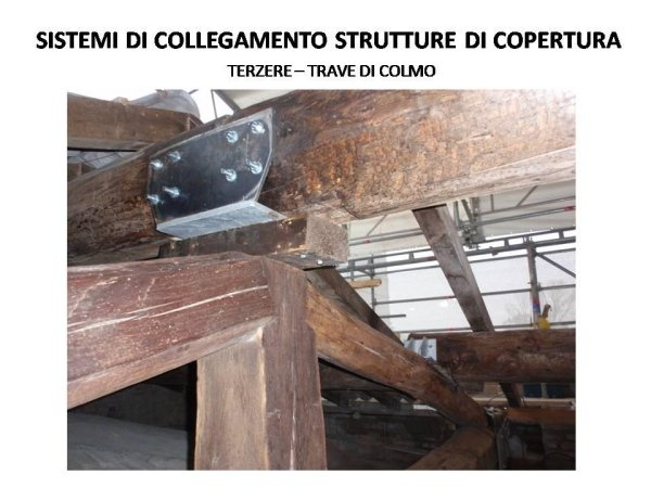 connection system for the roofing structure made with OSB panels on original rafters and metal bracings