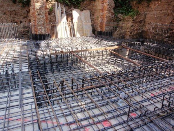 Foundation slab phase 2 rebar - detail of lift shaft pit floor