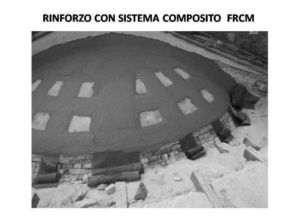 consolidation of the apse dome with the FRCM system