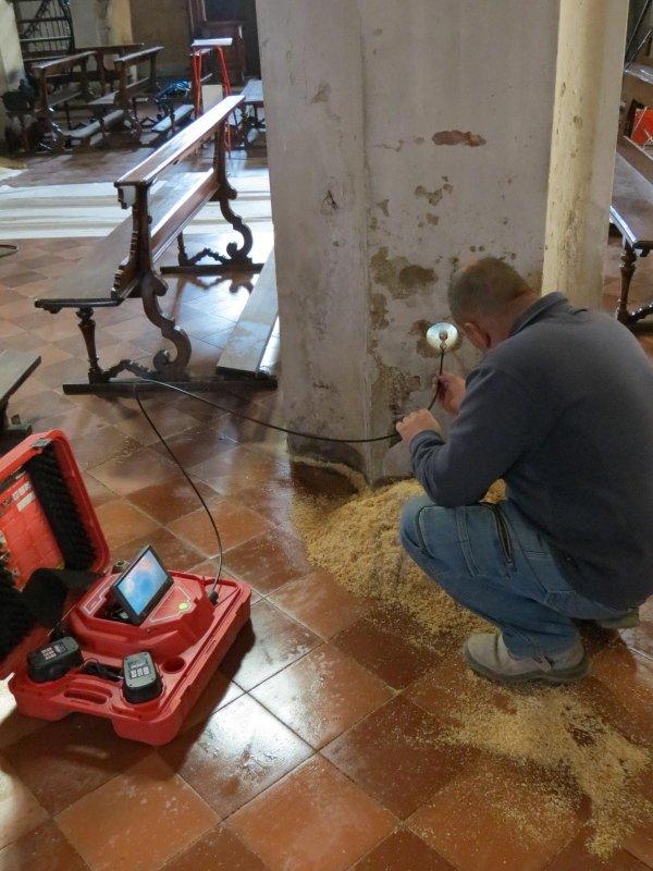 monitoraggio: carotaggio ed endoscopia colonna in muratura