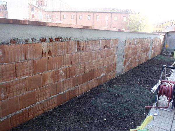 South border wall foundation reinforcement rebuilt