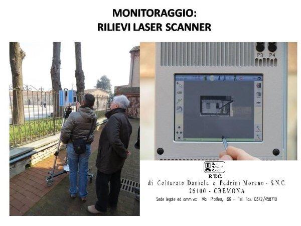 monitoraggio: rilievo con laser scanner