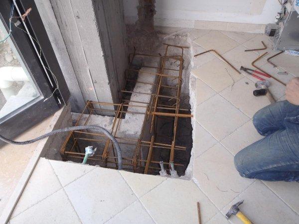 Collegamento tra pilastro e pavimento: armatura per rinforzo colletto plinto