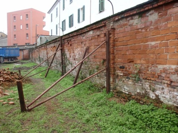 Deteriorated south boundary wall in precarious stability conditions