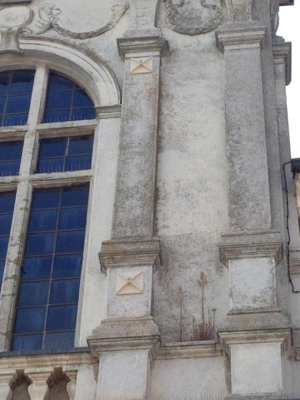 particolare piastre esterne catene sulla controfacciata verso Piazza XXIII Aprile