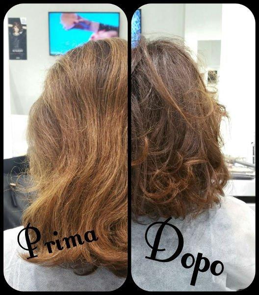 immagine prima e dopo taglio capelli