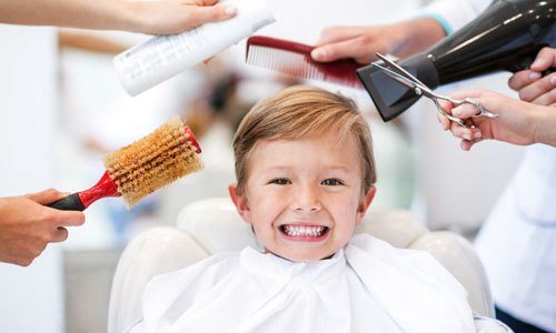 children's hair styling