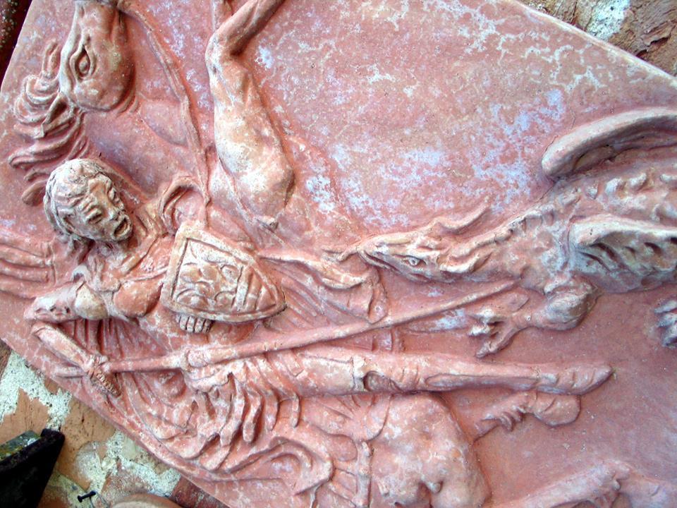 altorilievo in terracotta
