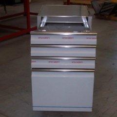 cassettiera in alluminio