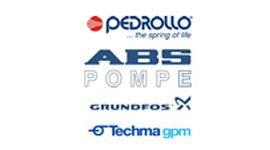 loghi Pedrollo, ABS Pompe, Grundfos, Techma Gpm