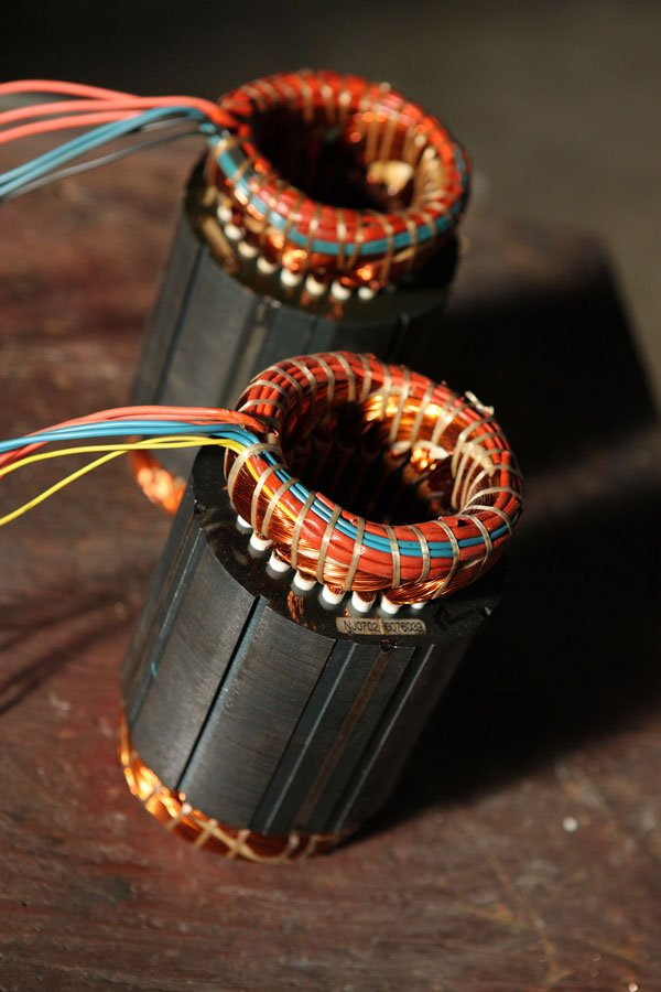 Delle bobine elettriche