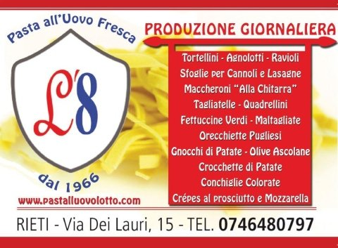 Produzione Giornaliera di pasta all'uovo, Rieti