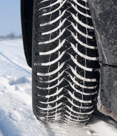 tyre in snow