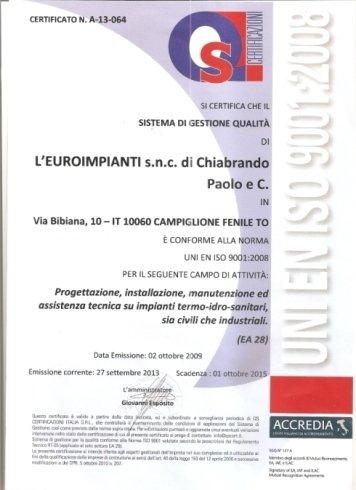Certificati Qualitá