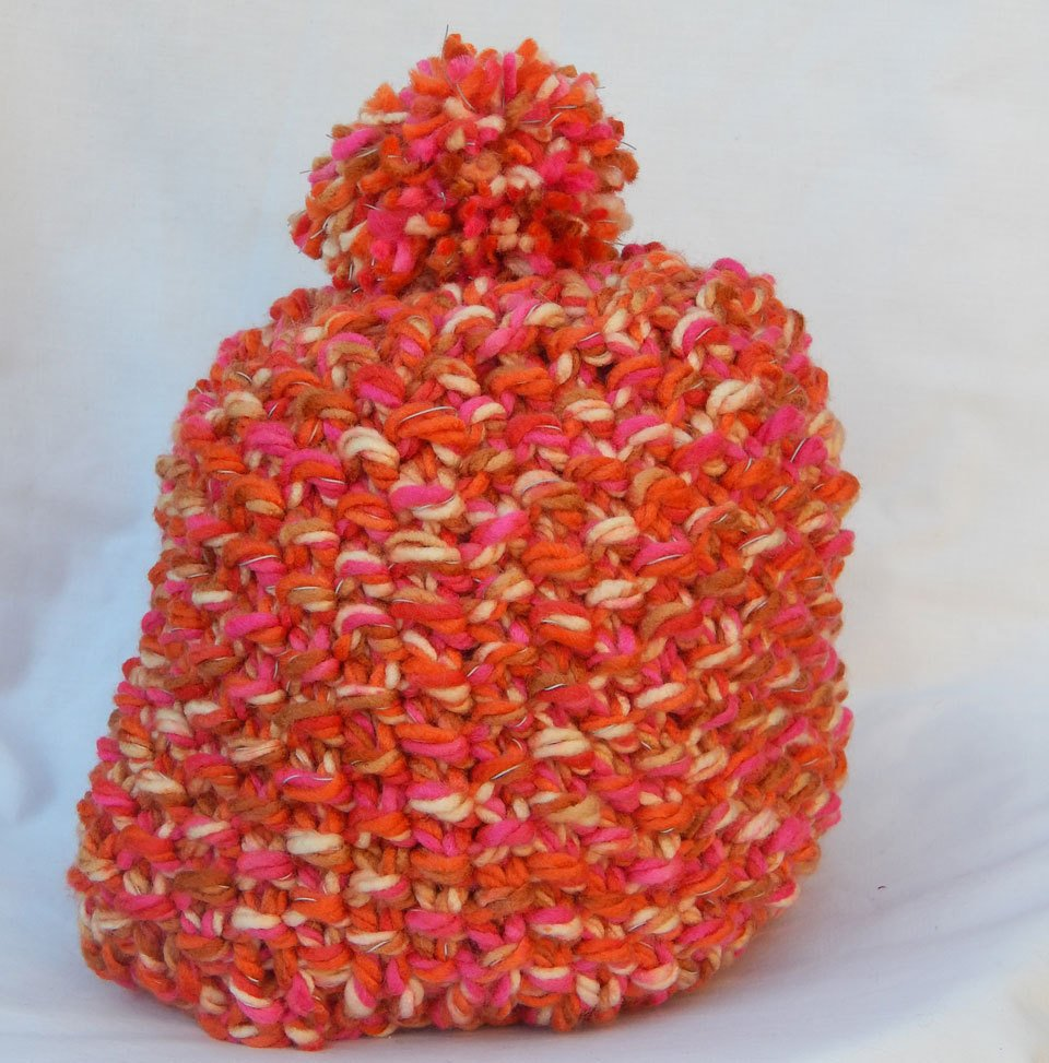 Orange and Pink Beanie