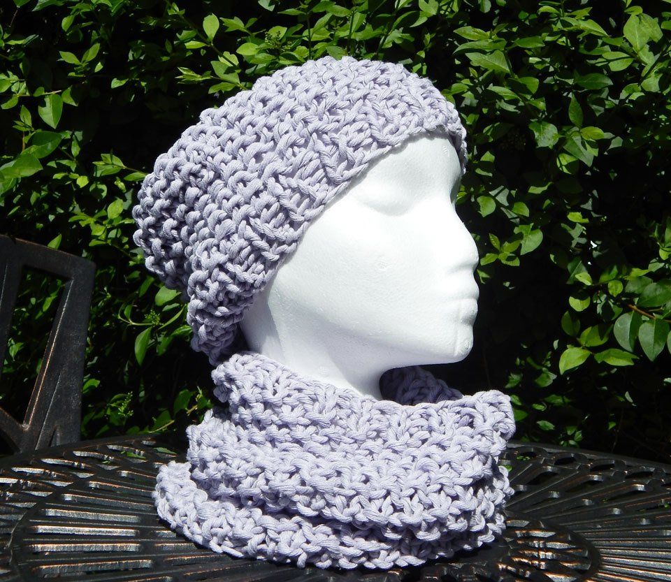light purple beanie