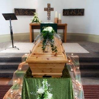 allestimento chiesa funerale