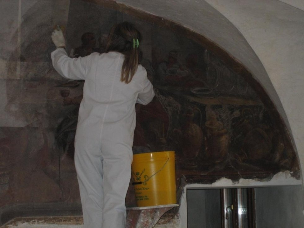 Restauro dipinto con velinatura