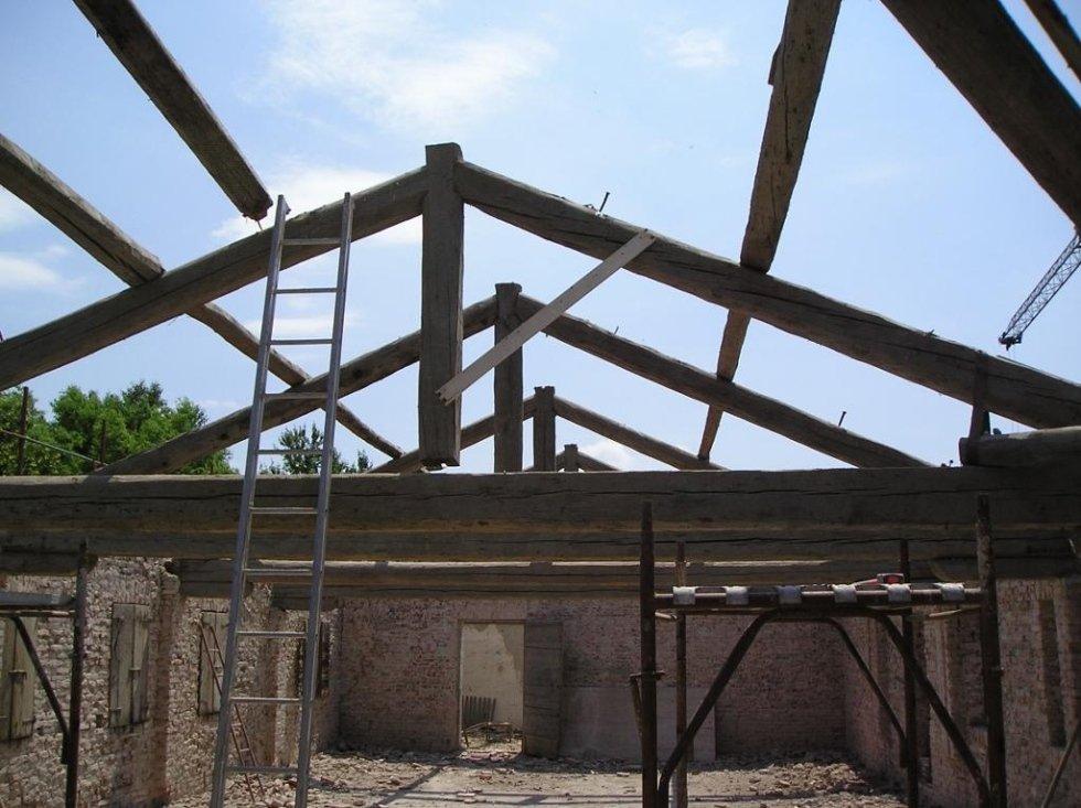 Villa Peruffo tetto ante restauro