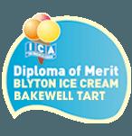 Diploma of merit  Blyton ice cream bakewell tart