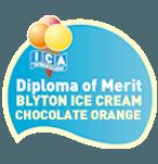 Diploma of merit  Blyton ice cream chocolate orange
