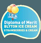 Diploma of merit  Blyton ice cream strawberry and cream