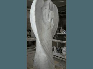 lavorazione statua funeraria
