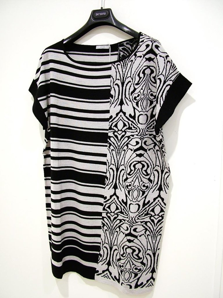t-dress in maglia optical